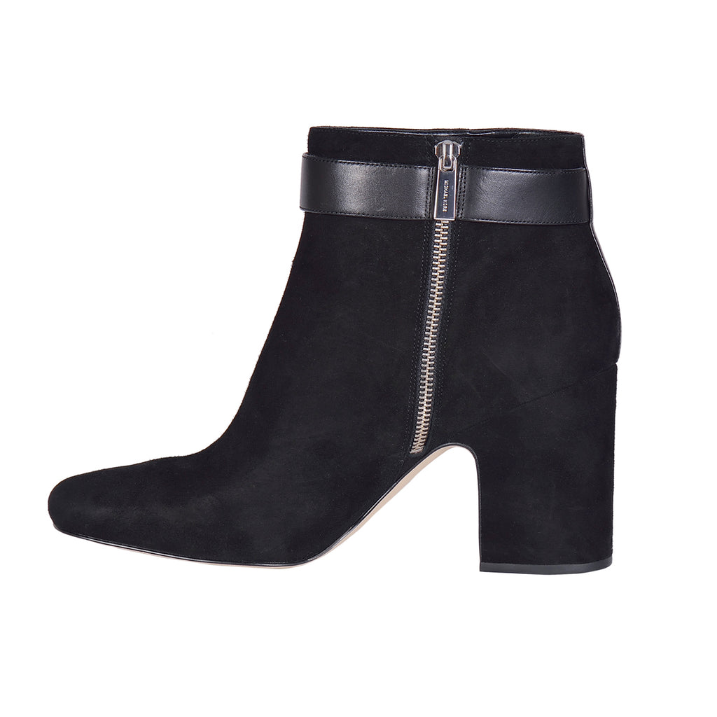 MICHAEL KORS Alana Black Suede Ankle Boots