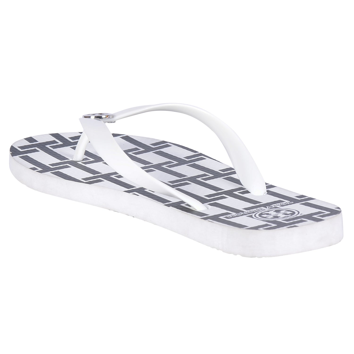 TORY BURCH WHITE FLIP FLOPS