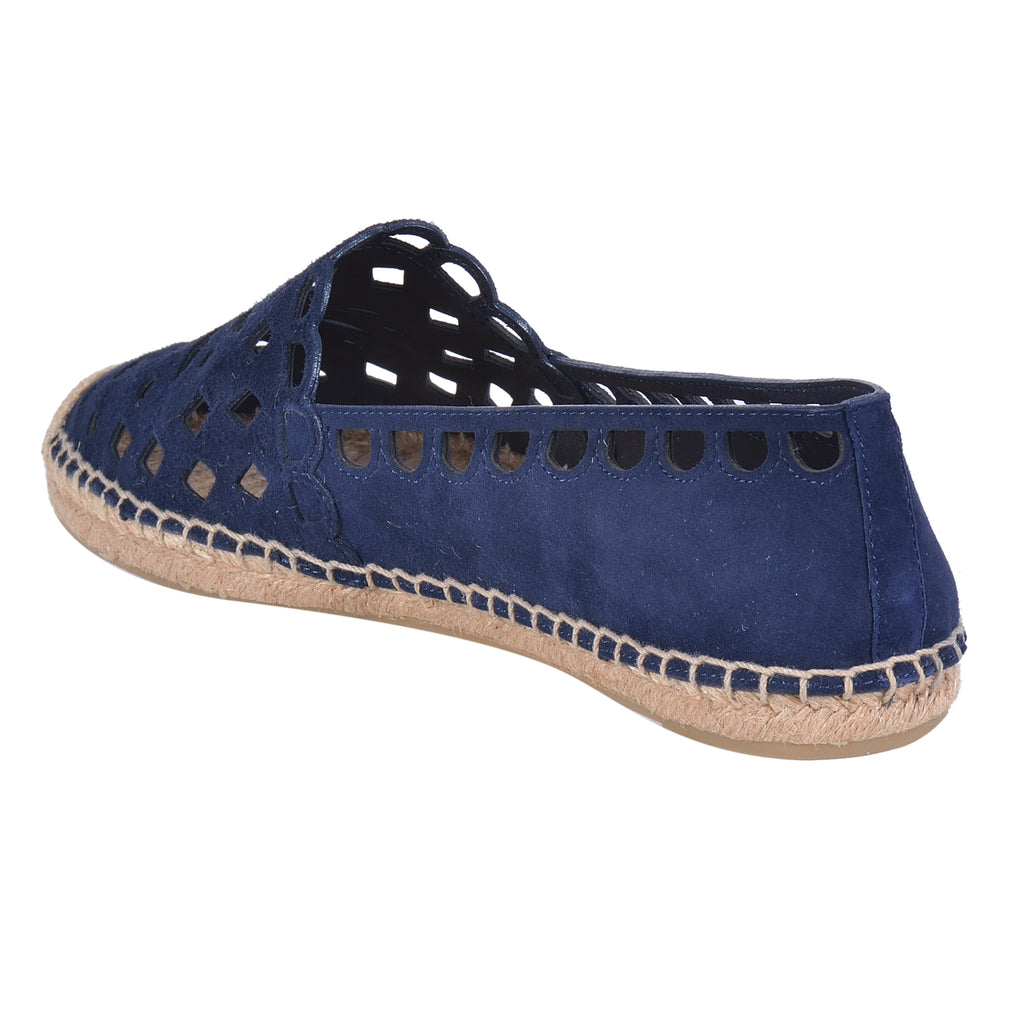 TORY BURCH MAY PERFORATED ESPADRILLE FLAT