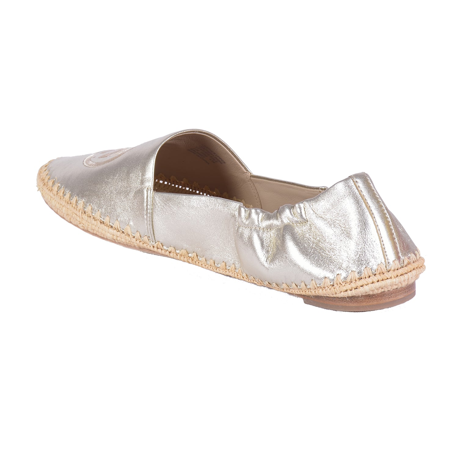 TORY BURCH DARIEN GOLD LEATHER ESPADRILLE LOAFER