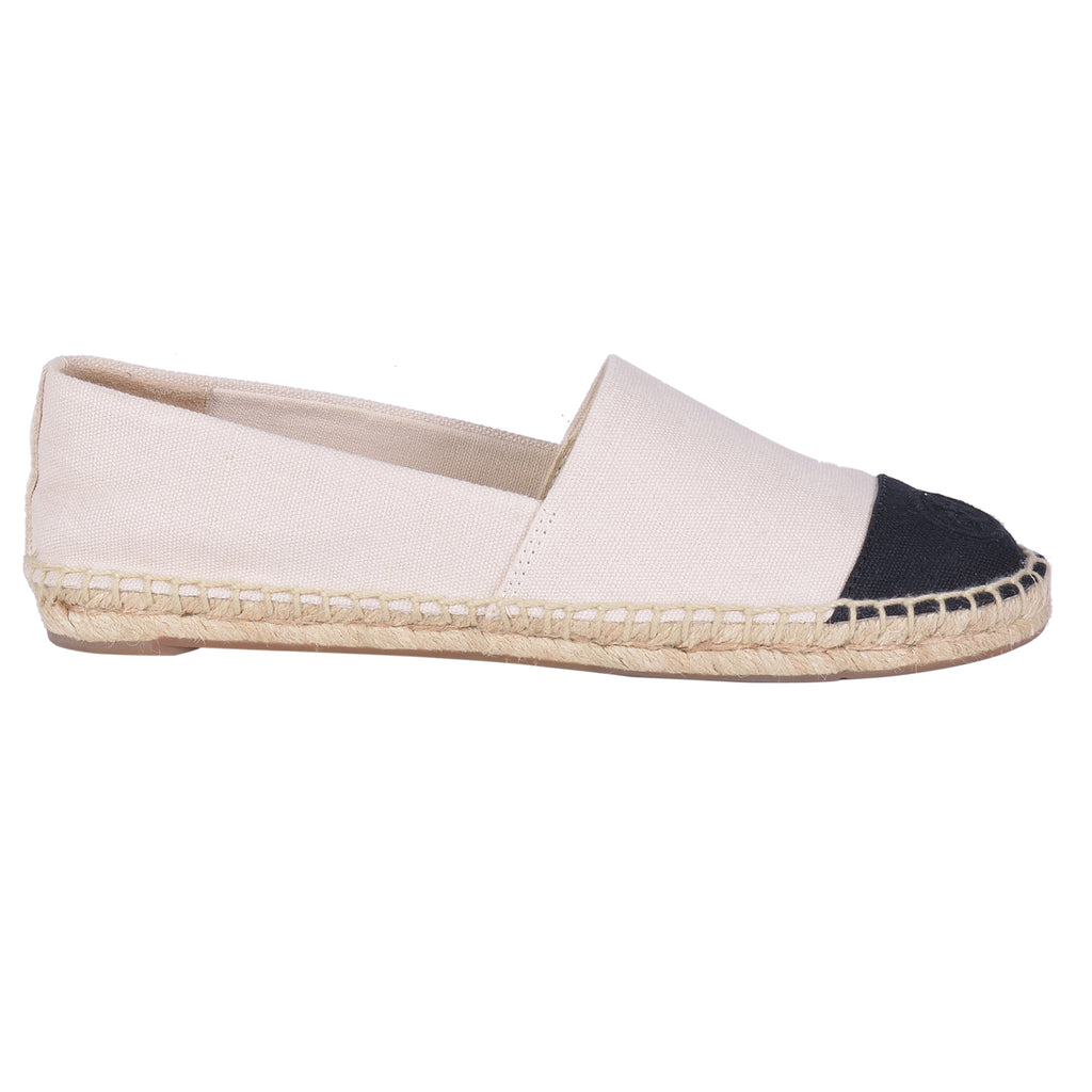 TORY BURCH  CAP TOE COLORBLOCK ESPADRILLE