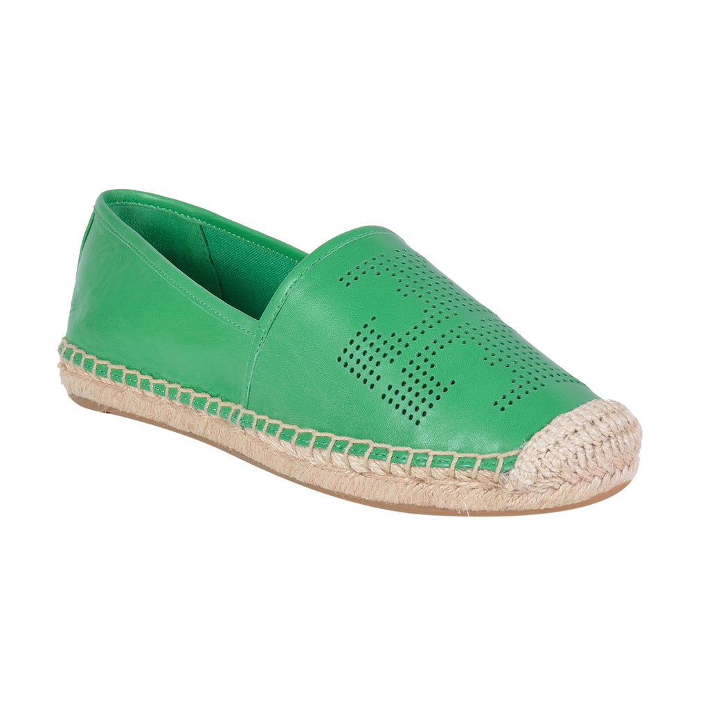 TORY BURCH PERFORATED-LOGO ESPADRILLE