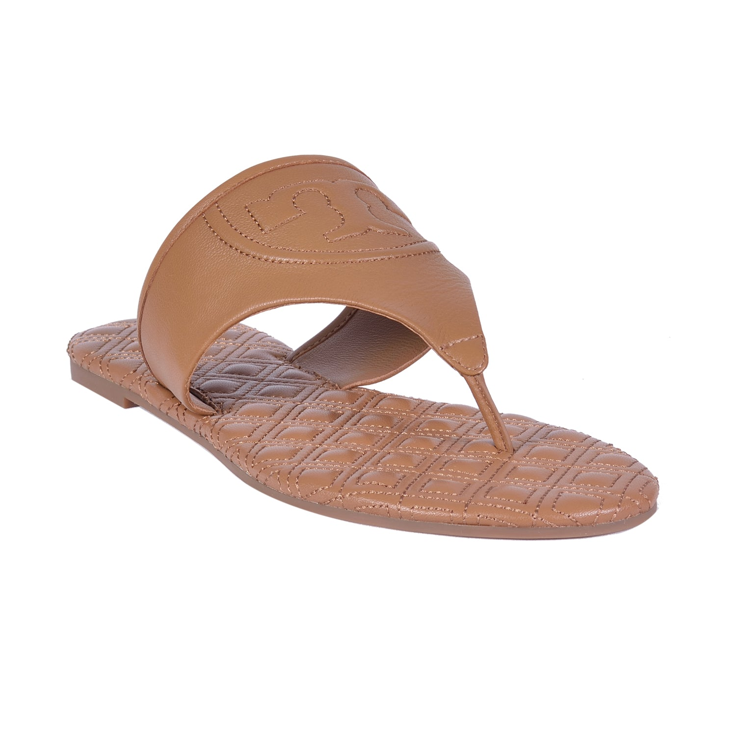 TORY BURCH ROYAL TAN FLEMING SLIDE ESPADRILLE SANDALS