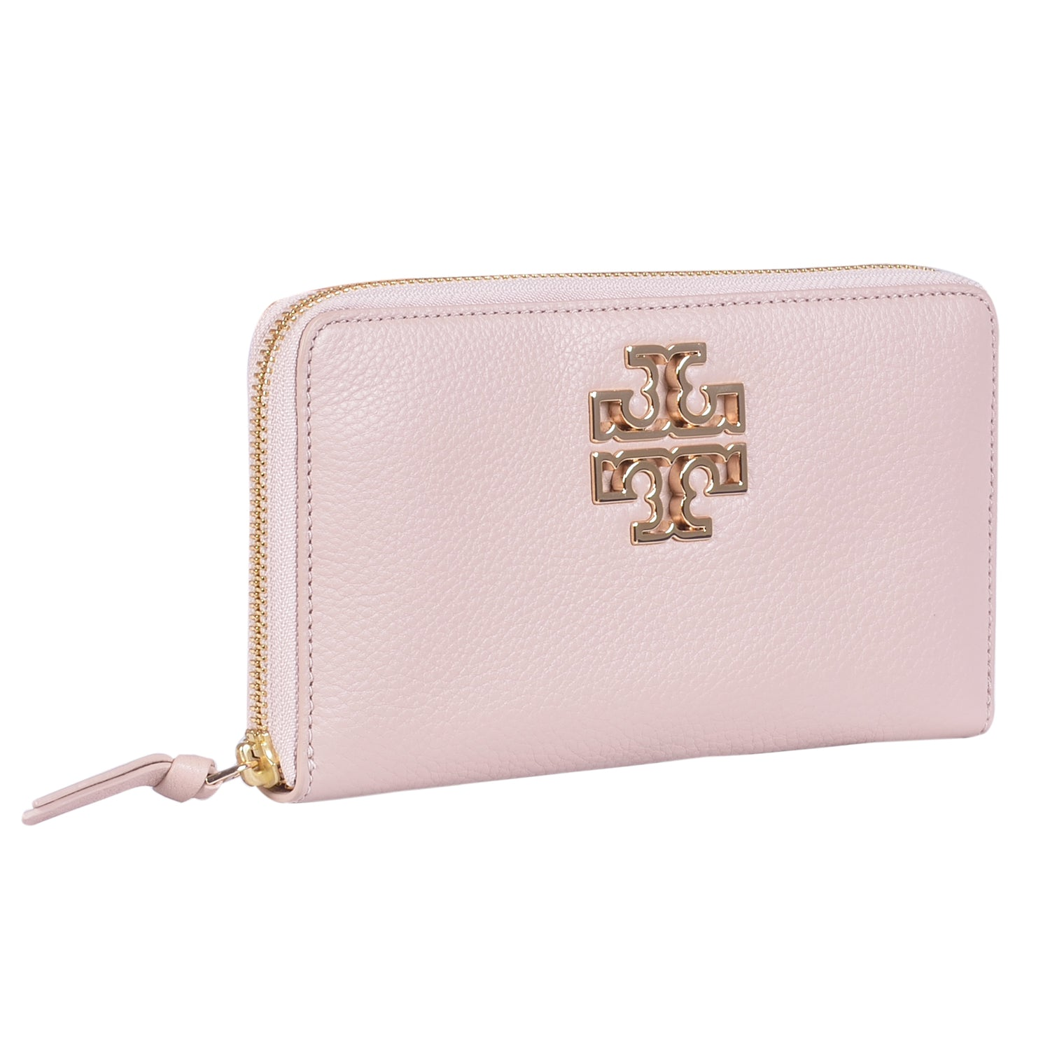 TORY BURCH BONDI BLUE BRITTEN ZIP CONTINENTAL WALLET