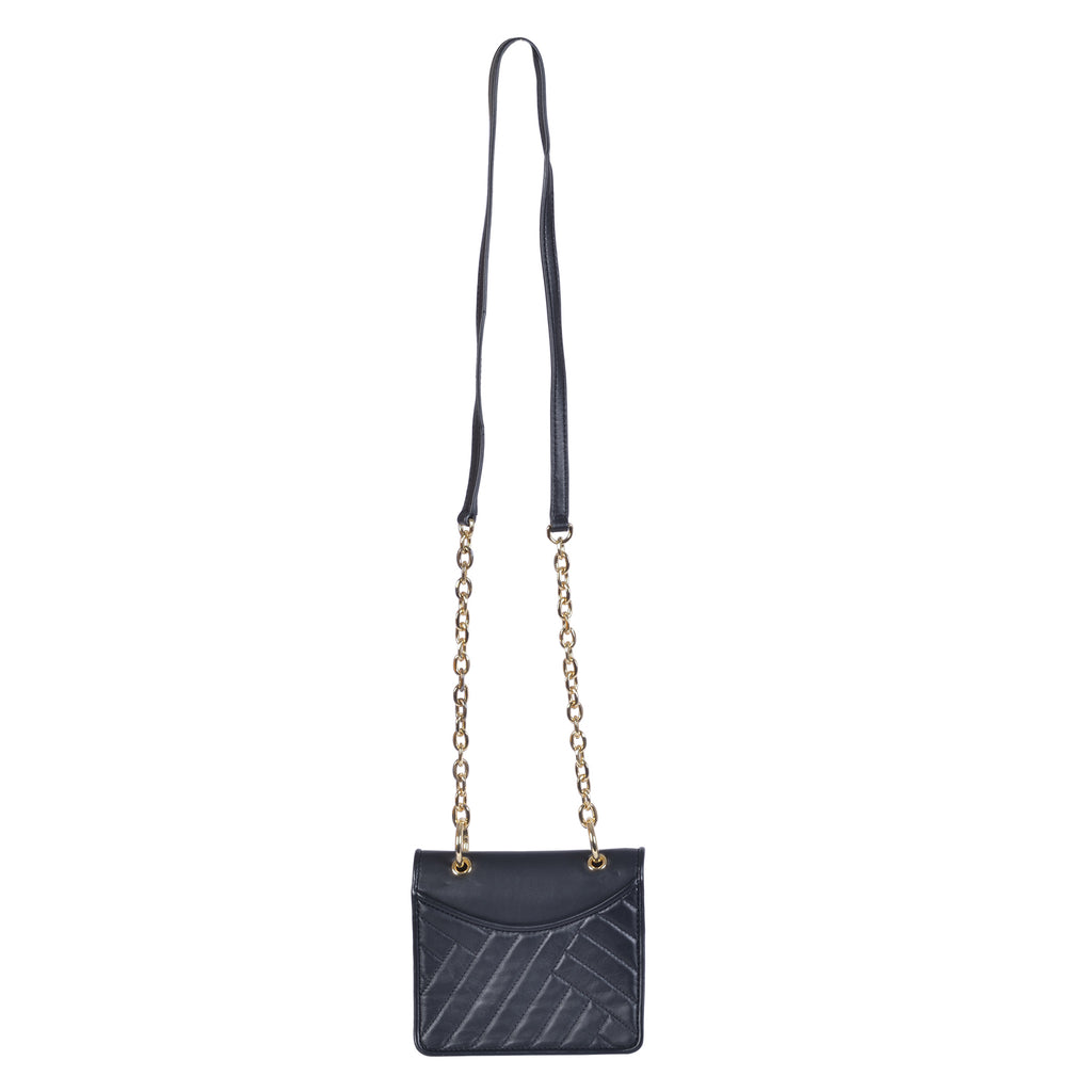 TORY BURCH ALEXA MINI LEATHER CROSSBODY SHOULDER BAG CHAIN STRAP