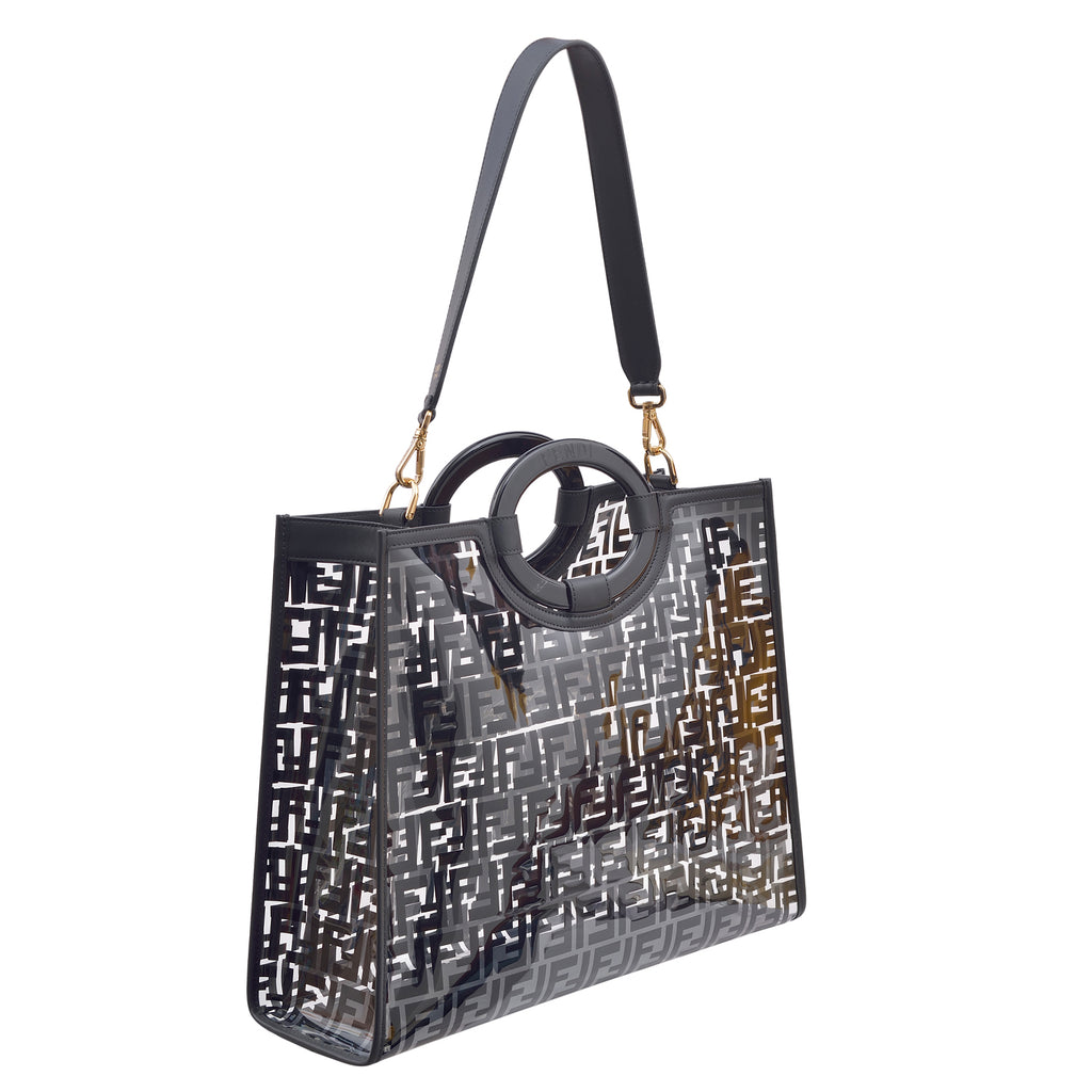 Fendi Transparent Medium Leather Shopper Bag
