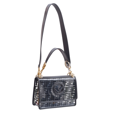Fendi Black Transparent Leather Shoulder Bag