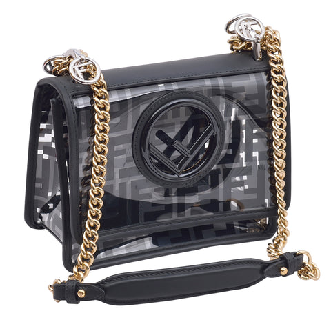 Fendi Black Transparent Mini Leather Bag