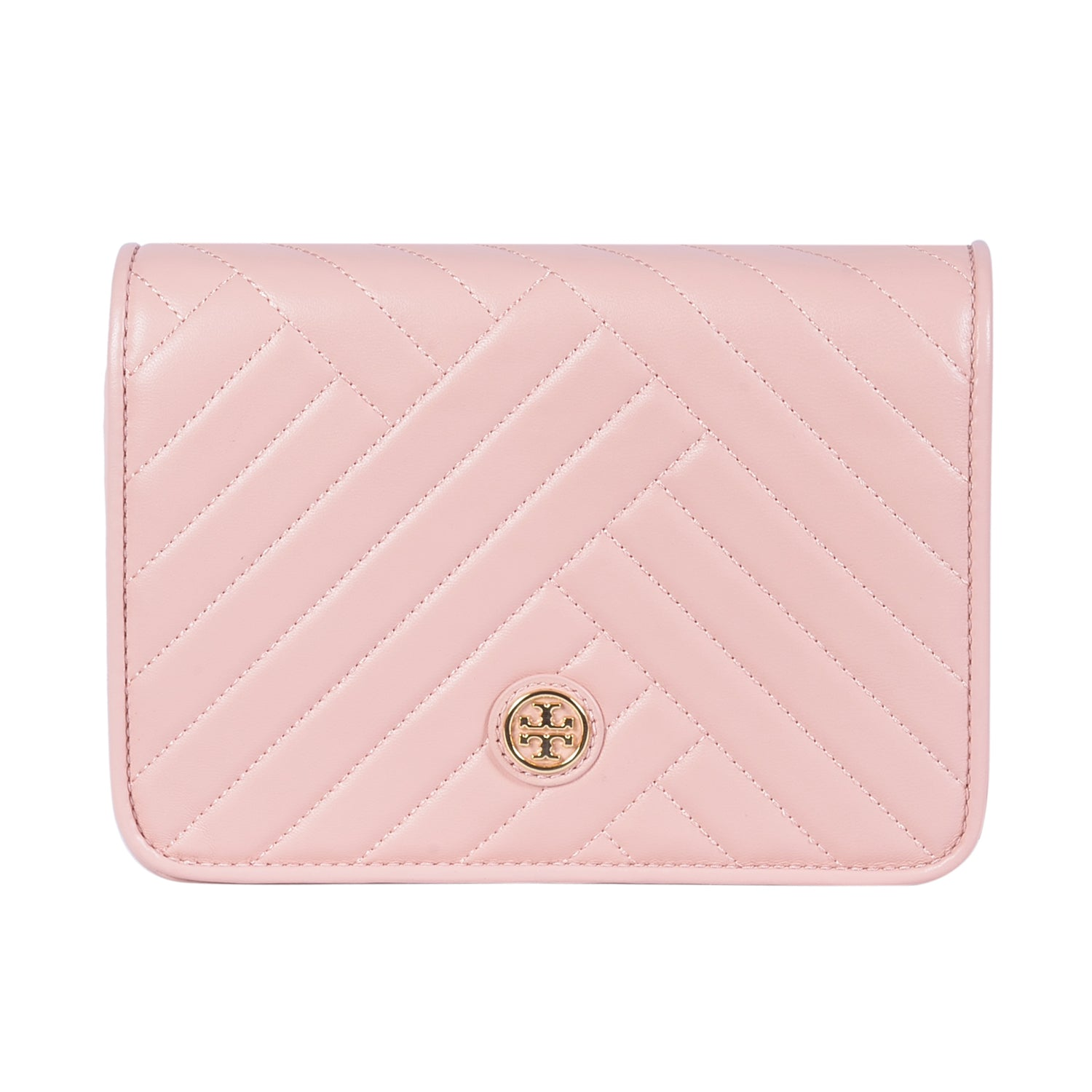 TORY BURCH ALEXA COMBO PINK LEATHER CROSS BODY BAG
