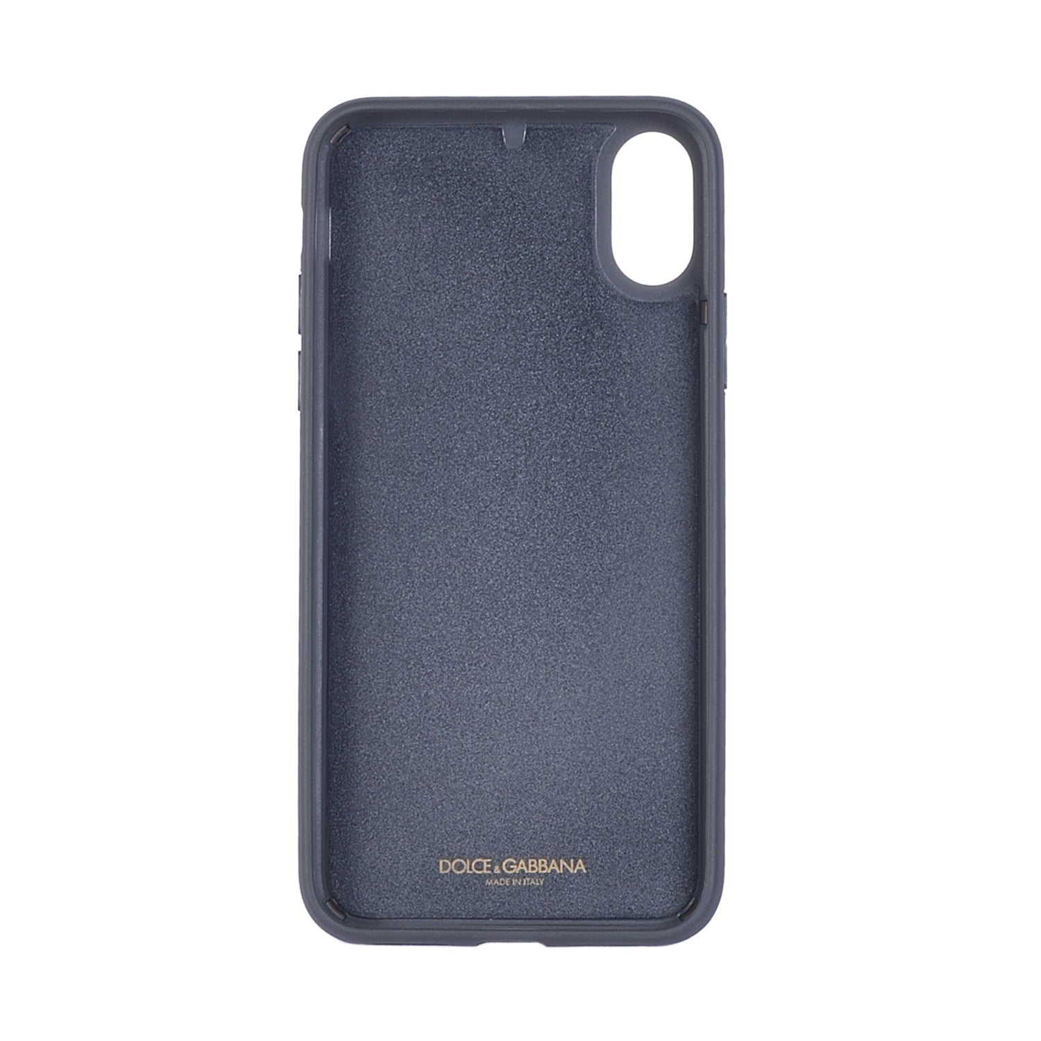 DOLCE & GABBANA Dauphine Calfskin iPhone X Cover with Crystal Logo