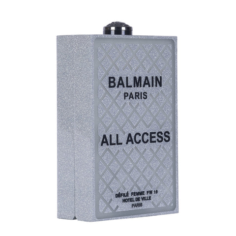 BALMAIN MINAUDIERE BOX PLEXIGLAS CLUTCH BAG