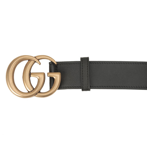 GUCCI WIDE BELT WITH DOUBLE G BUCKLE