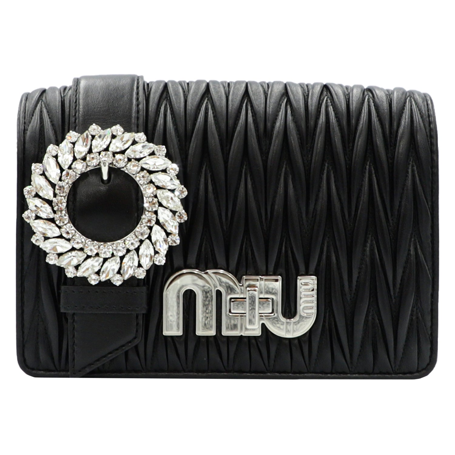 My Miu Miu Black Clutch Bag  | Shop MIU MIU Online India