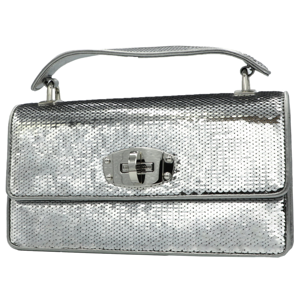 Miu Cleo Silver Bag  | Shop MIU MIU Online India