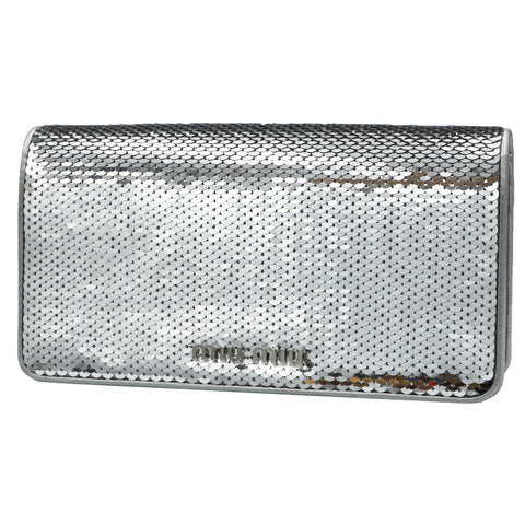 MIU MIU METALLIC QUILTED CLUTCH