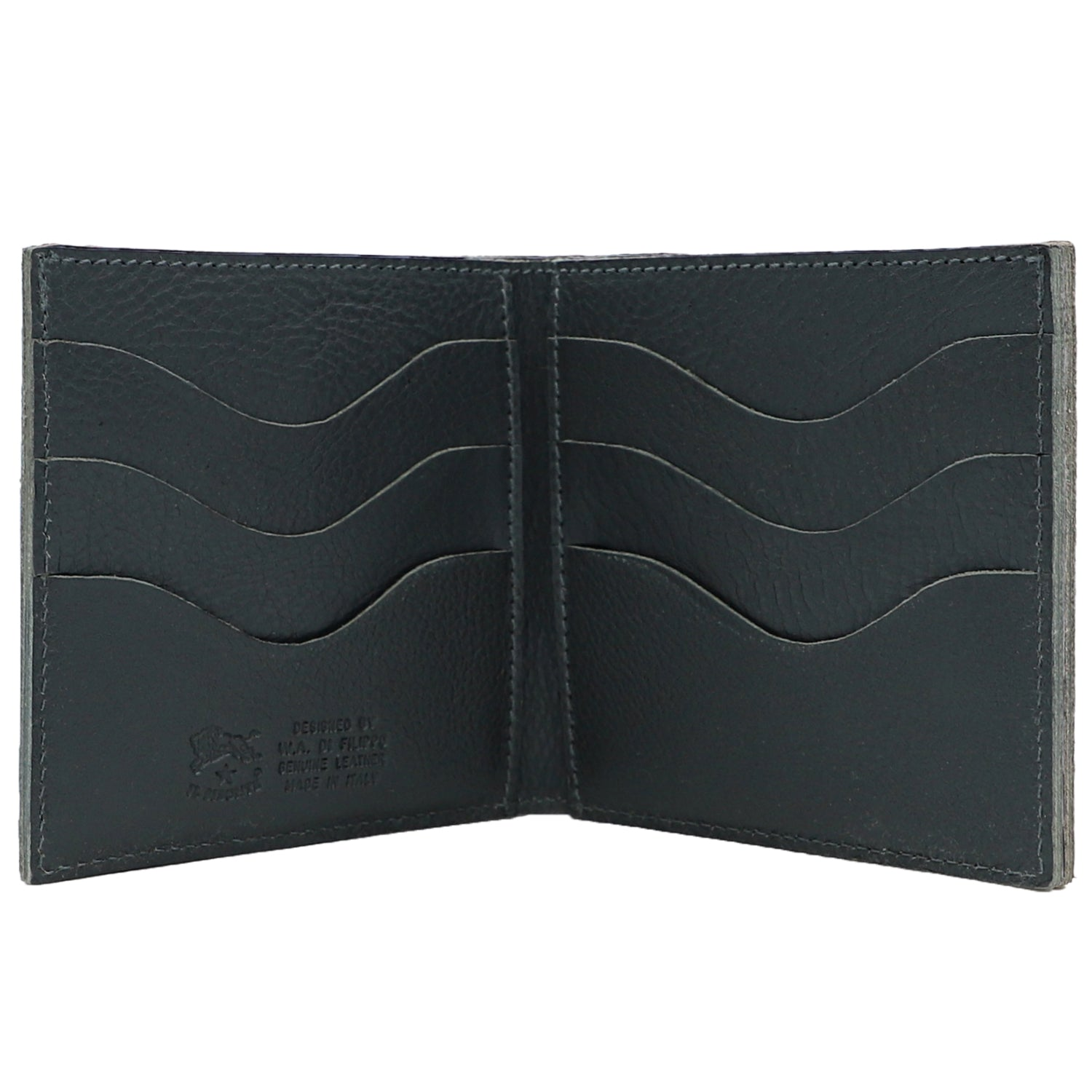 Tri-Fold Wallet Grey | Shop IL BISONTE Online India