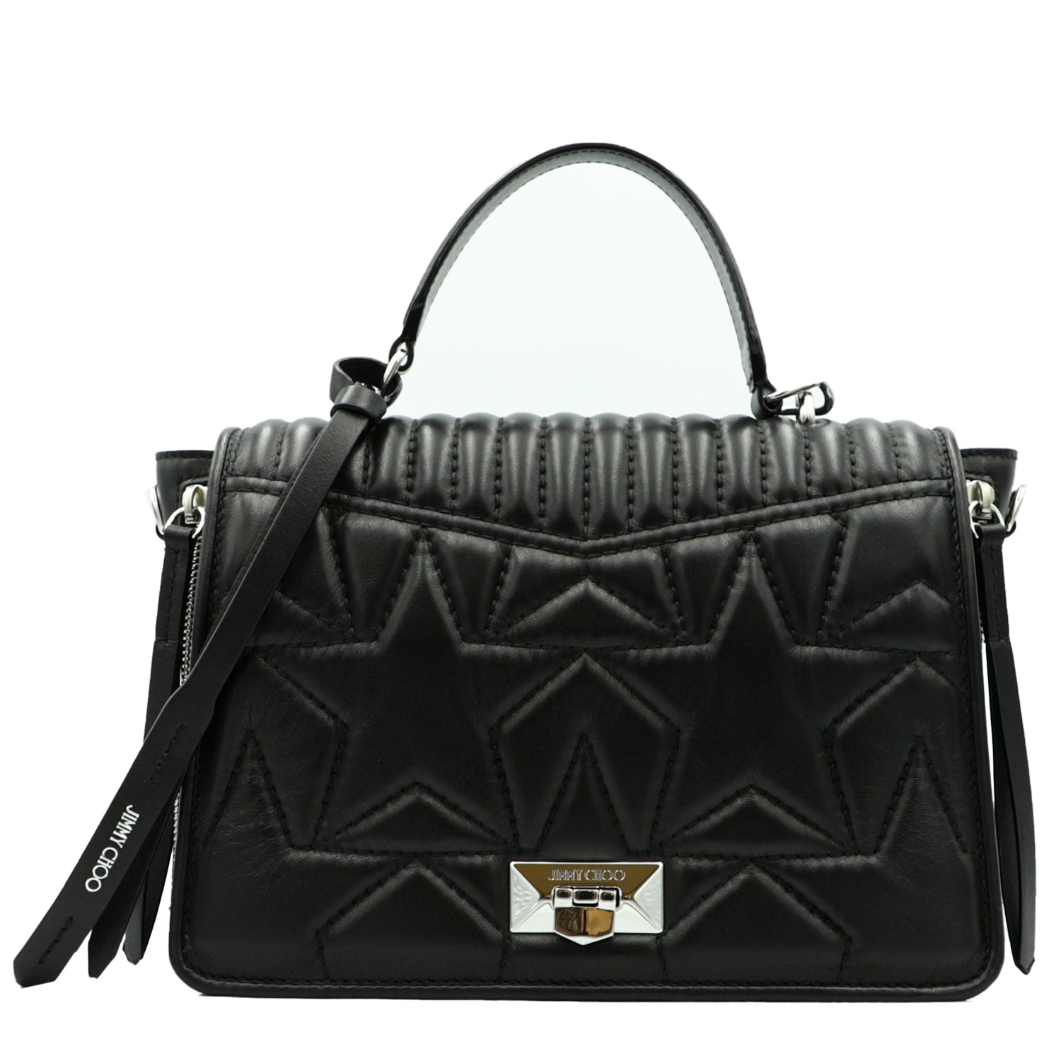 Helia Black Handbag | Shop JIMMY CHOO Online India