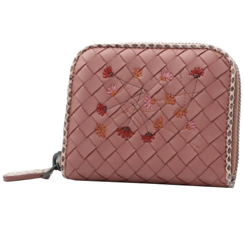 ROSE BRAIDED EMBROIDERED MINI WALLET