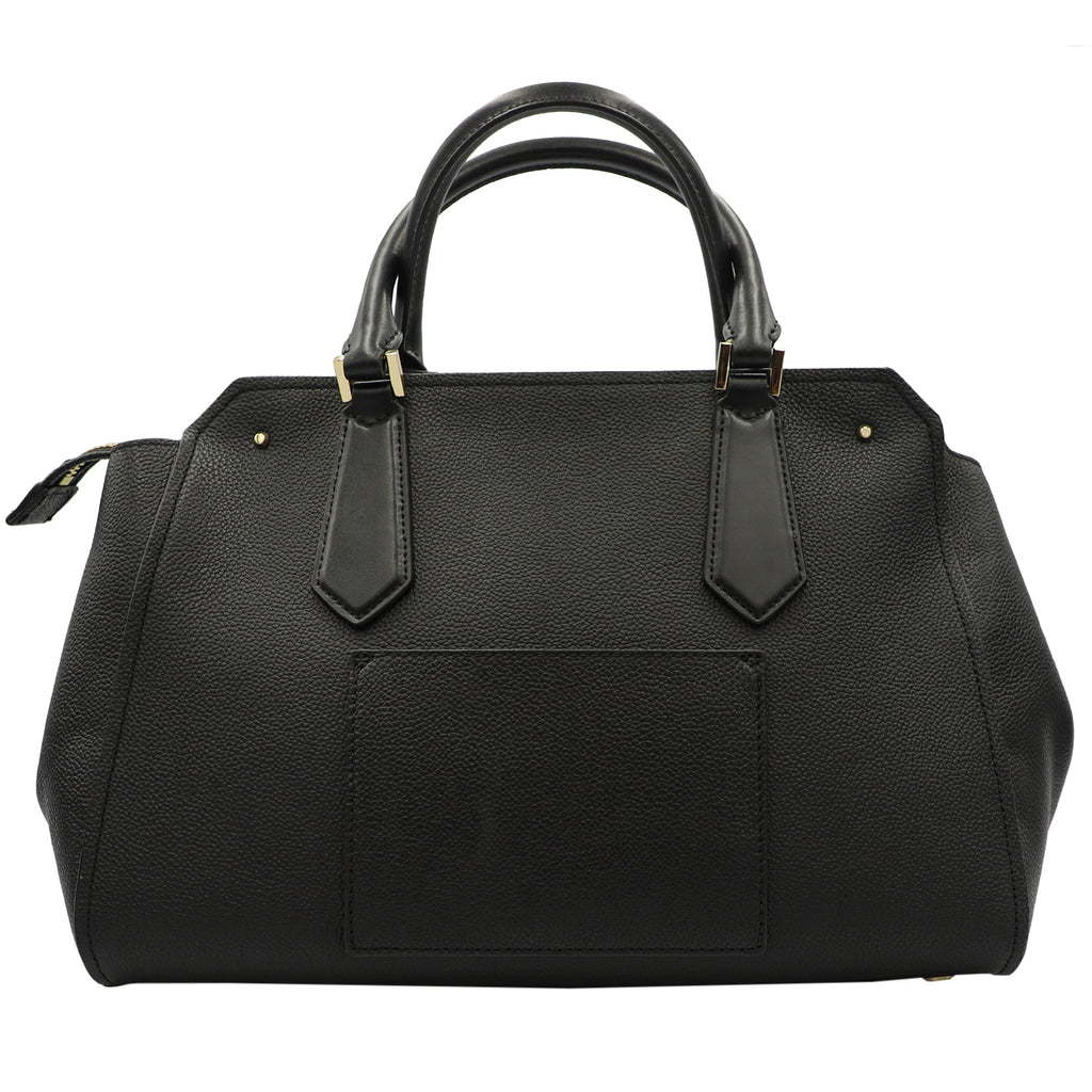 Hayes Leather Satchel Crossbody In Black | Shop MICHAEL KORS Online India