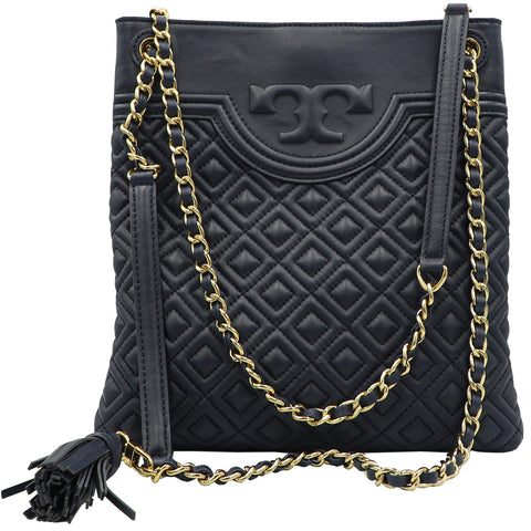 Fleming Royal Navy Swingpack Crossbody Shoulder Bag | Shop TORY BURCH Online India
