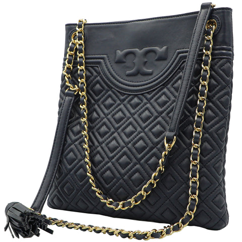 TORY BURCH FLEMING ROYAL NAVY SWINGPACK CROSSBODY SHOULDER BAG