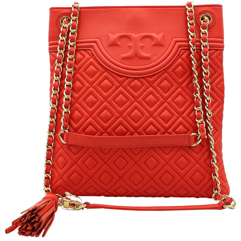 Fleming Red Volcano Swingpack Crossbody Shoulder Bag | Shop TORY BURCH Online India
