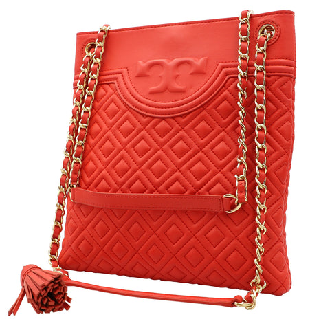 TORY BURCH FLEMING RED VOLCANO SWINGPACK CROSSBODY SHOULDER BAG