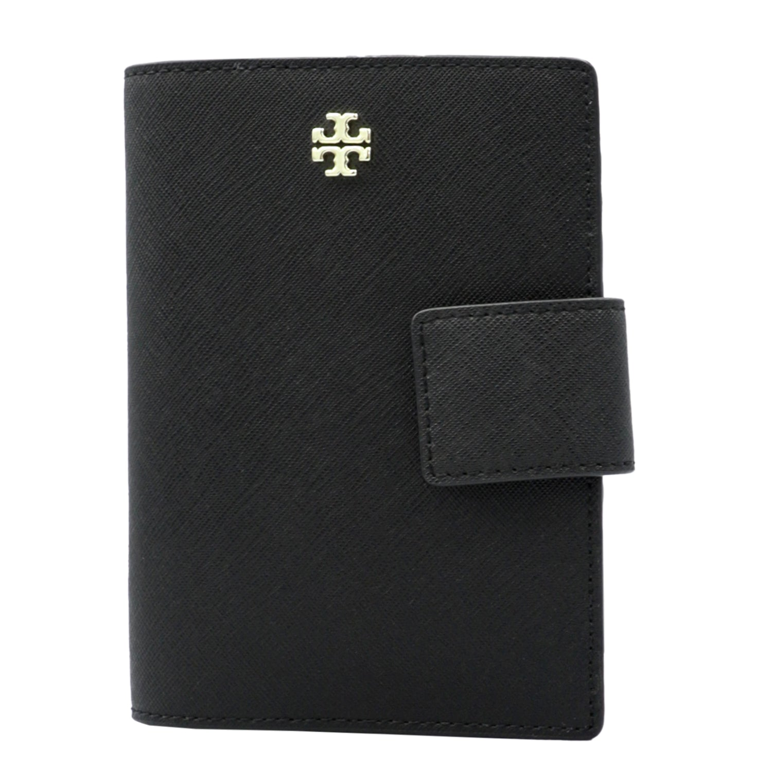 Black Emerson Leather Passport Holder | Shop TORY BURCH Online India