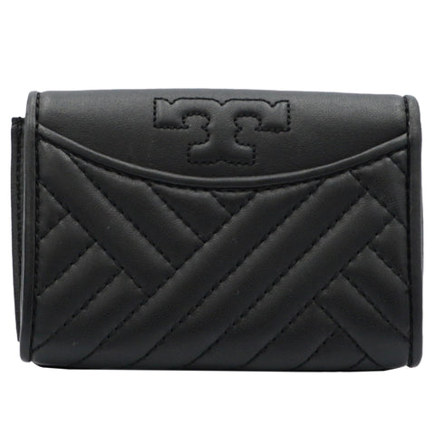Alexa Black Foldable Mini Leather Wallet | Shop TORY BURCH Online India