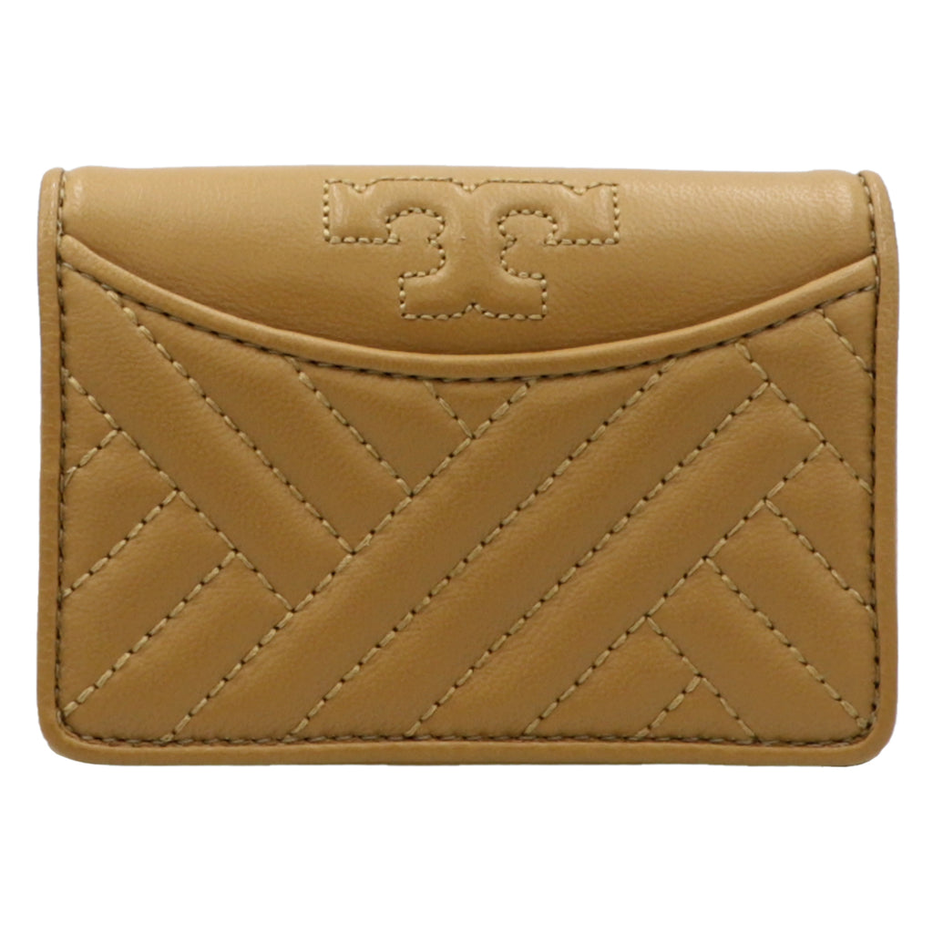 Alexa Aged Vachetta Foldable Mini Leather Wallet | Shop TORY BURCH Online India
