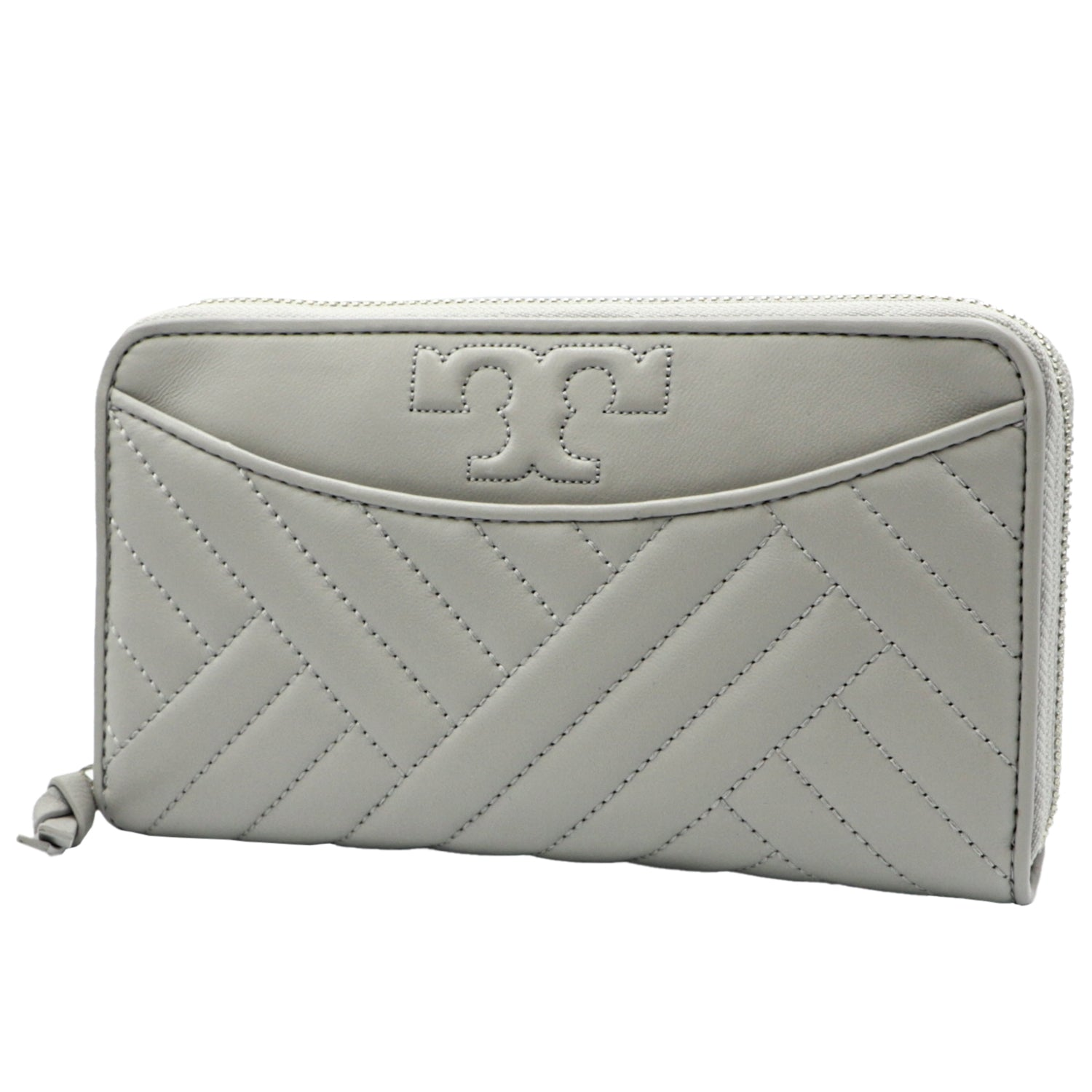 Alexa Concrete Zip Continental Wallet | Shop TORY BURCH Online India