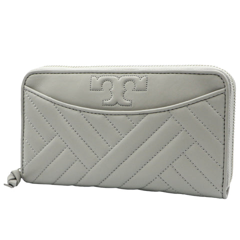 TORY BURCH ALEXA CONCRETE ZIP CONTINENTAL WALLET