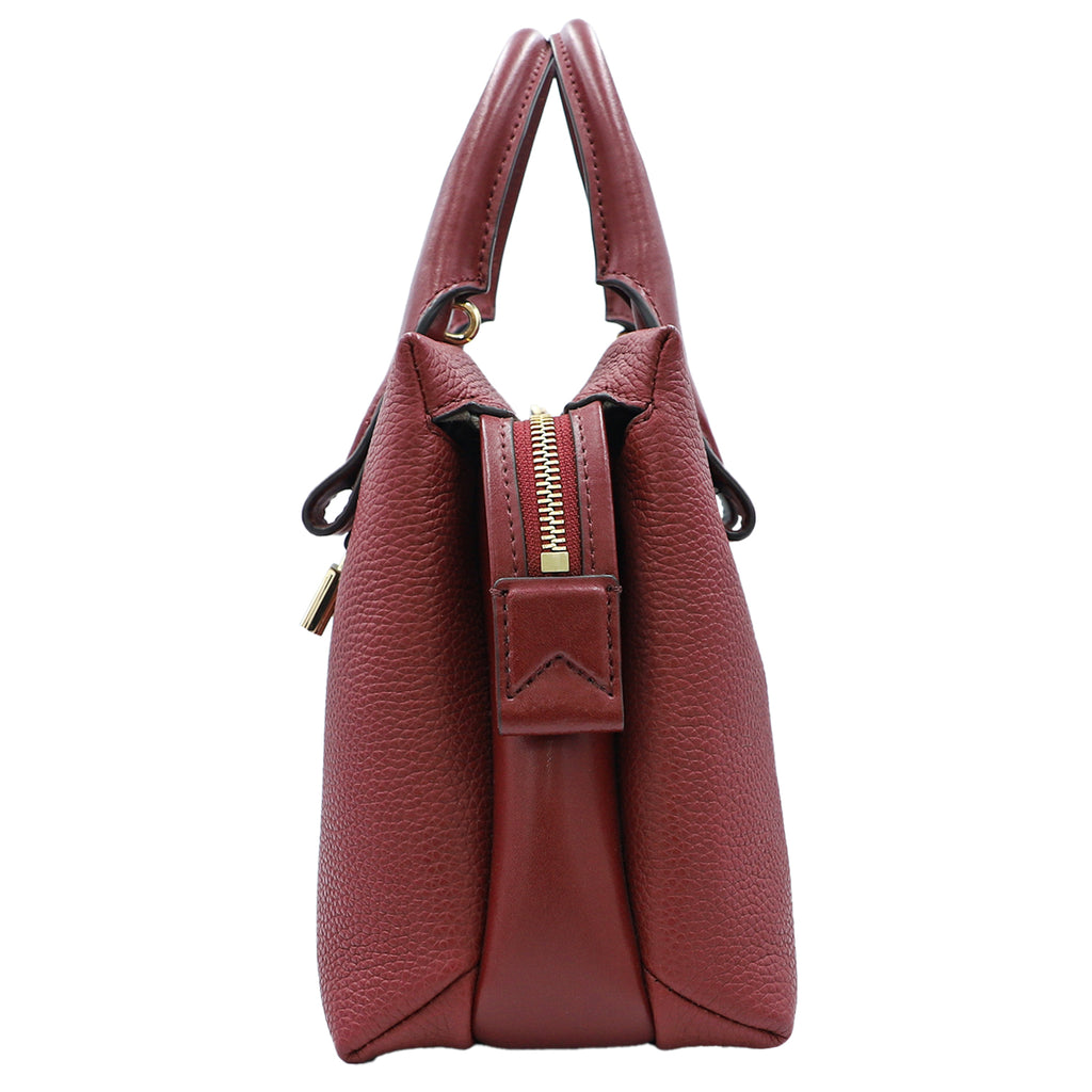 Michael Kors Rollins Maroon Satchel | Shop MICHAEL KORS Online India