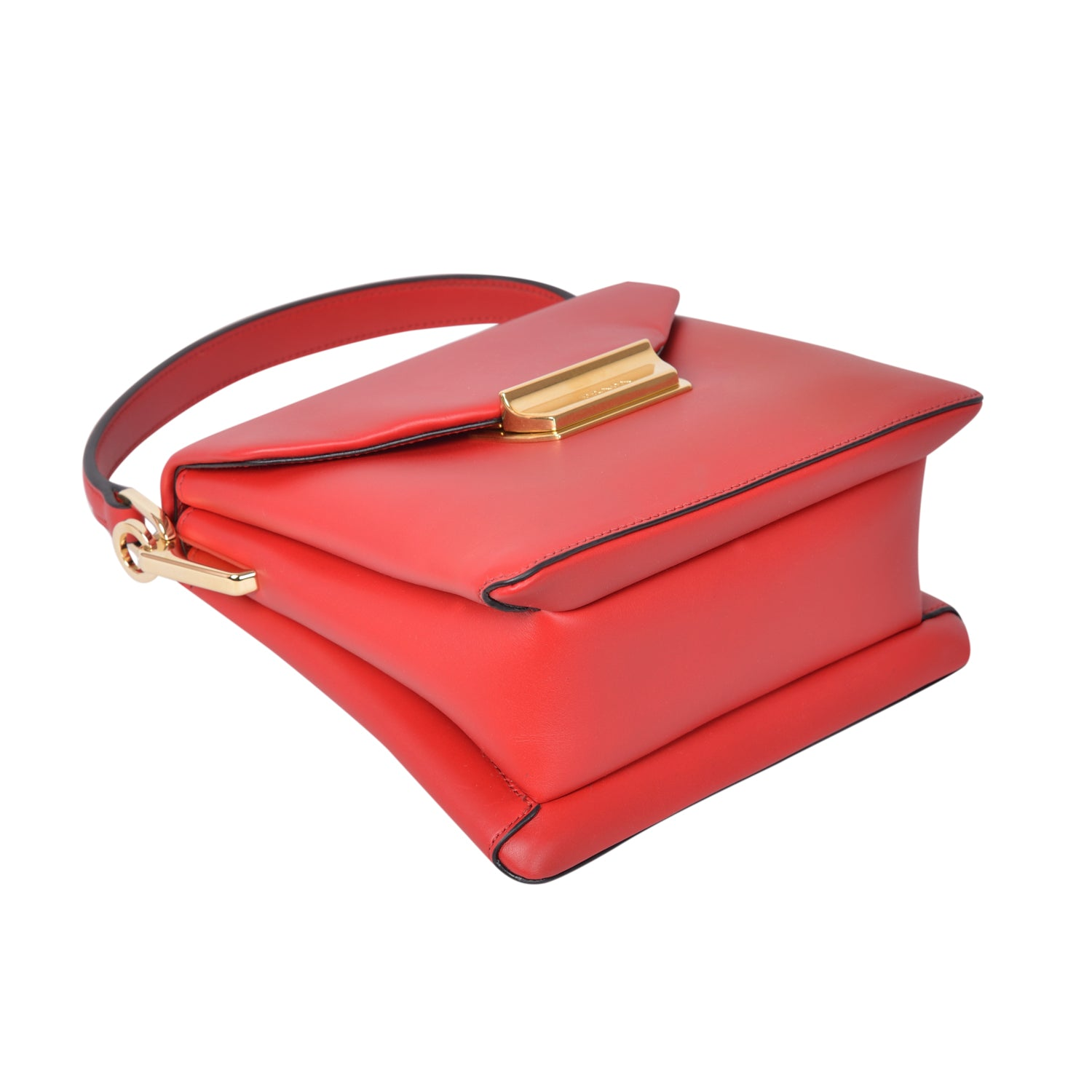 Prada red ingrid red small top handle bag in nappa leather. | Shop Luxury Handbag Online
