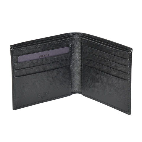SAFFIANO BLACK 8-SLOT WALLET