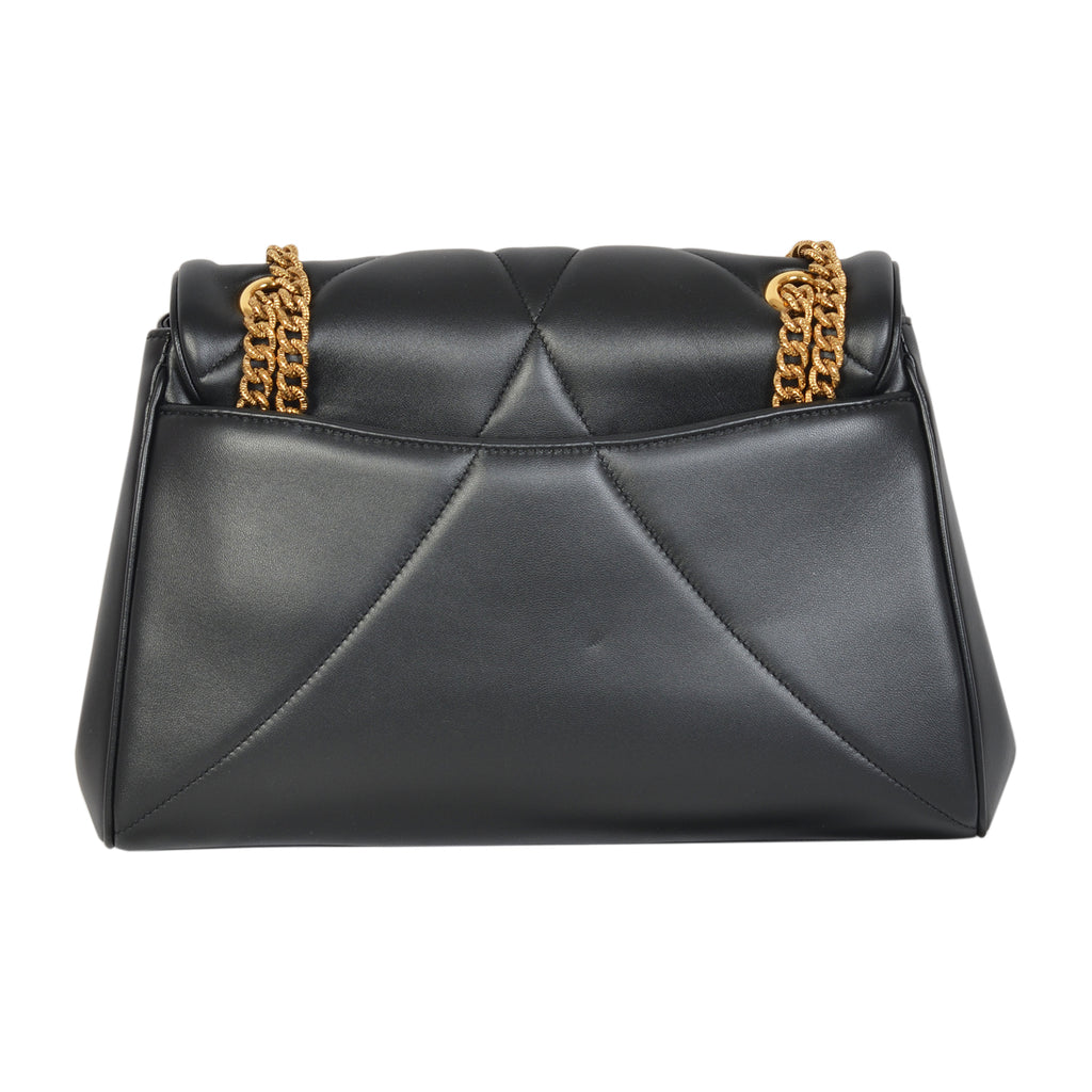 D&G devotion quilted black shoulder bag in nappa leather. | Shop Luxury Handbag Online