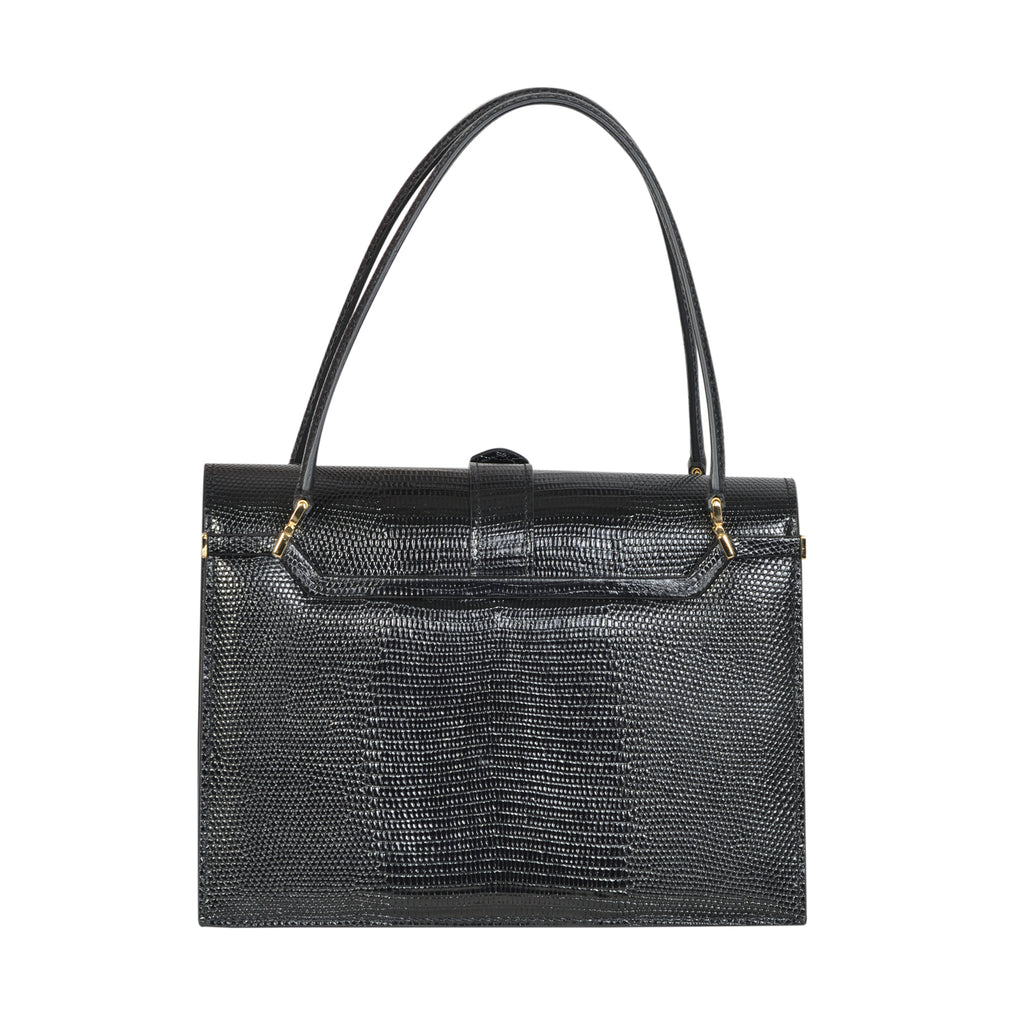 D&G ingrid iguana print black tote bag in high quality leather. | Shop Luxury Handbag Online