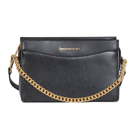 Michael Kors Jet Set black crossbody bag in calfskin leather. | Shop Luxury Crossbody Bag Online