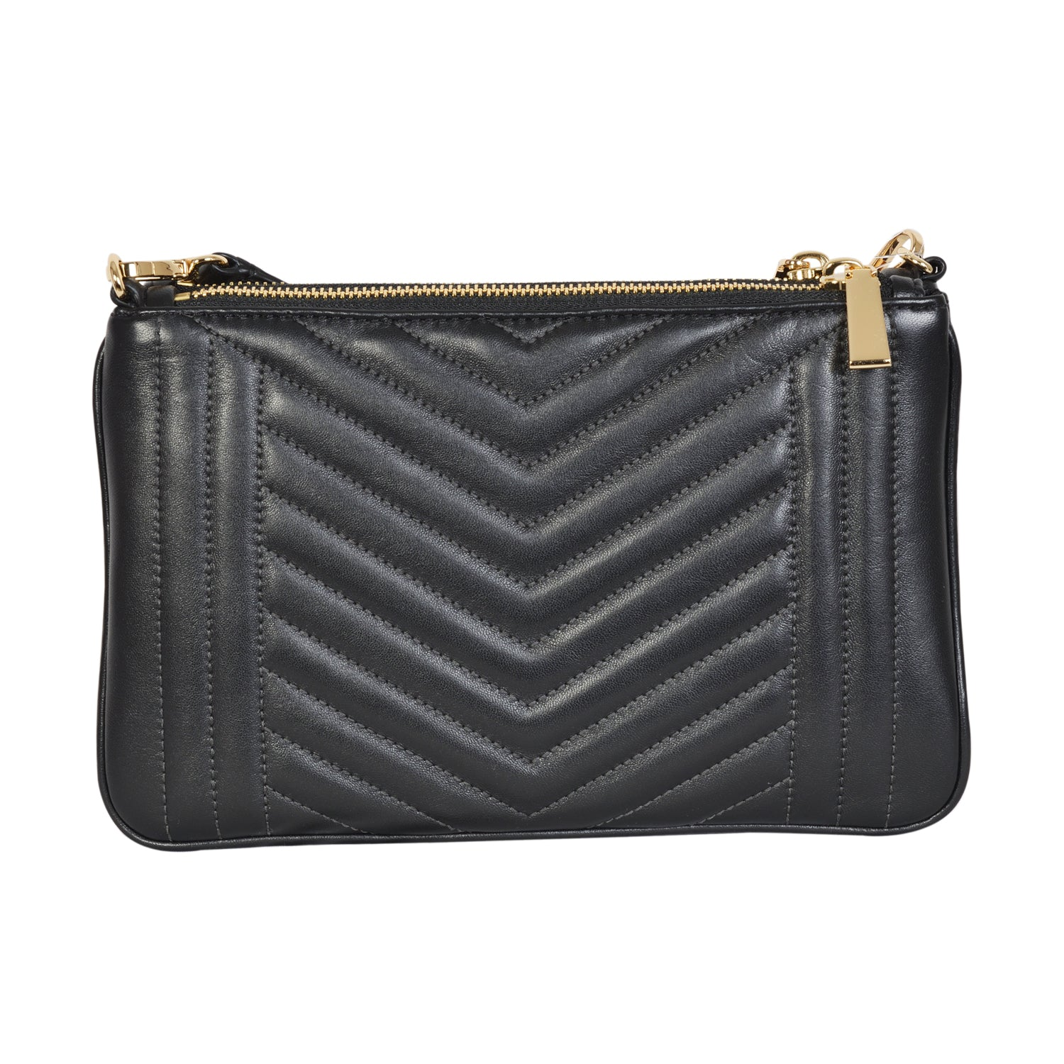 Michael Kors Jet Set black pouch in high quality leather. | Shop Luxury Pouch Online