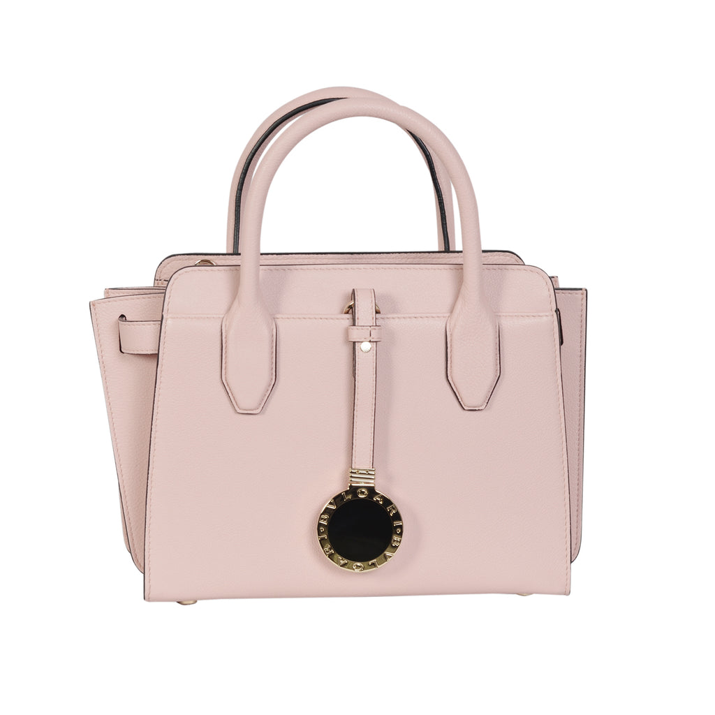 Bvlgari tote bag made of hammered crystal pink calfskin | Shop Luxury Handbag Online