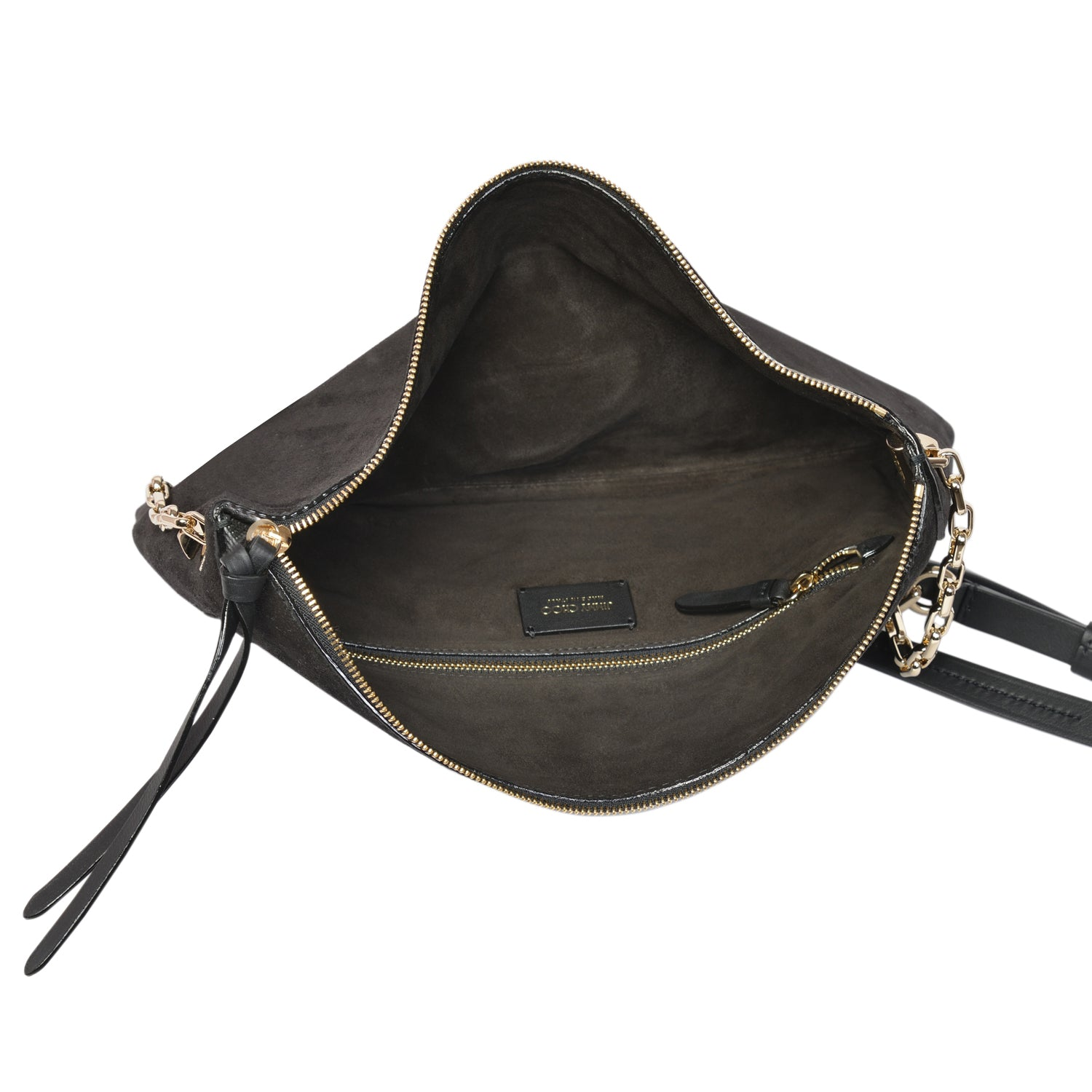Jimmy Choo Varenne shoulder bag in black vachetta leather | Shop Luxury Handbag Online