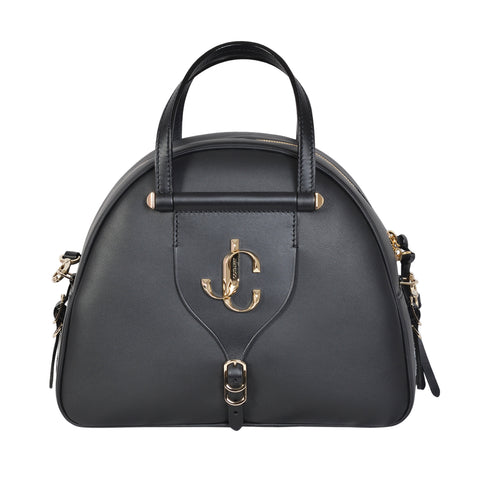 Jimmy Choo Varenne bowlings bag in black vachetta leather | Shop Luxury Handbag Online