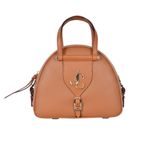 Jimmy Choo Varenne bowlings bag in cuoio vachetta leather | Shop Luxury Handbag Online