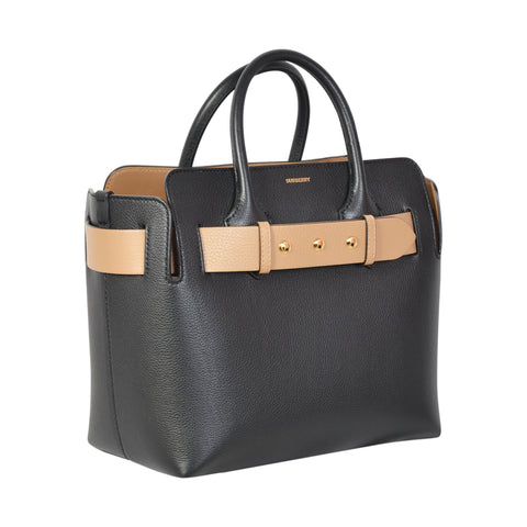 BELT BAG BLACK LEATHER SMALL TOTE
