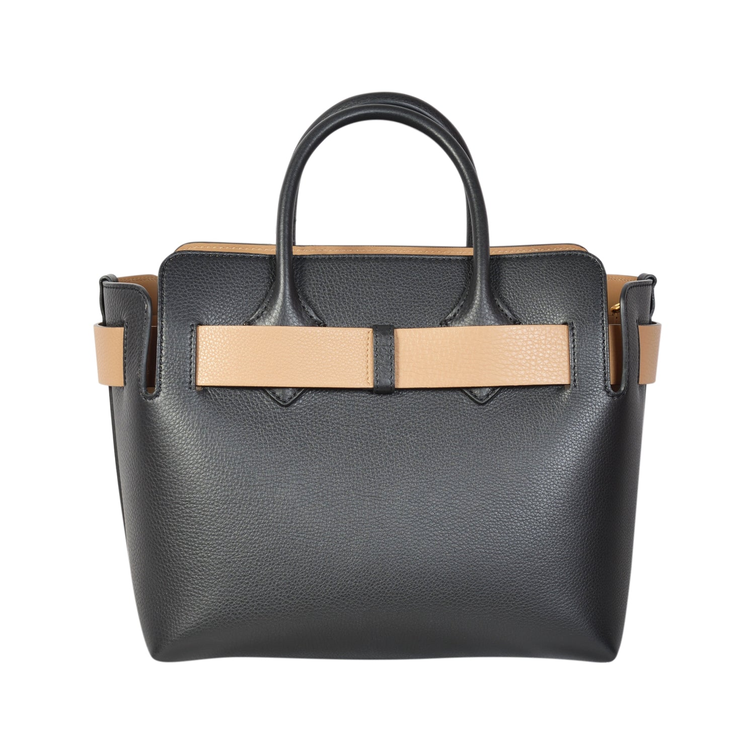 Burberry Grained calfskin tote in black leather | Shop Luxury Handbag Online