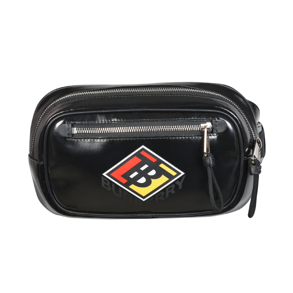 Burberry logo graphic belt in black calf leather | Shop Luxury Handbag Online
