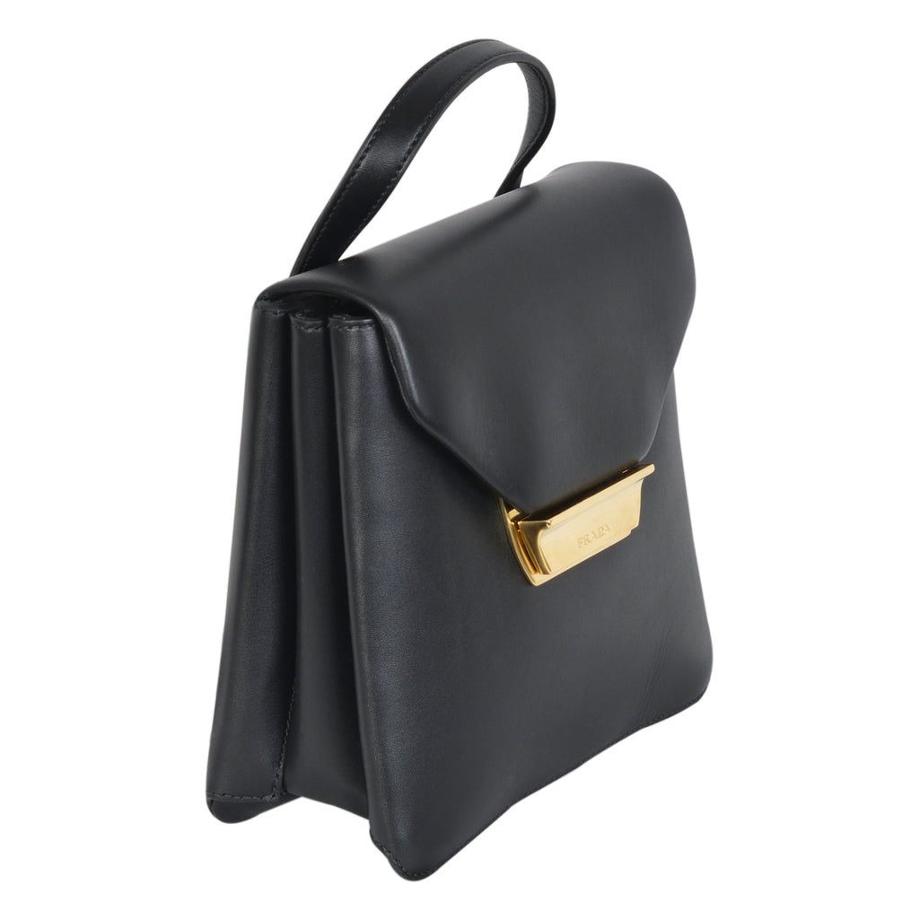 Prada mini backpack in black saffiano leather  | Shop Luxury Handbag Online