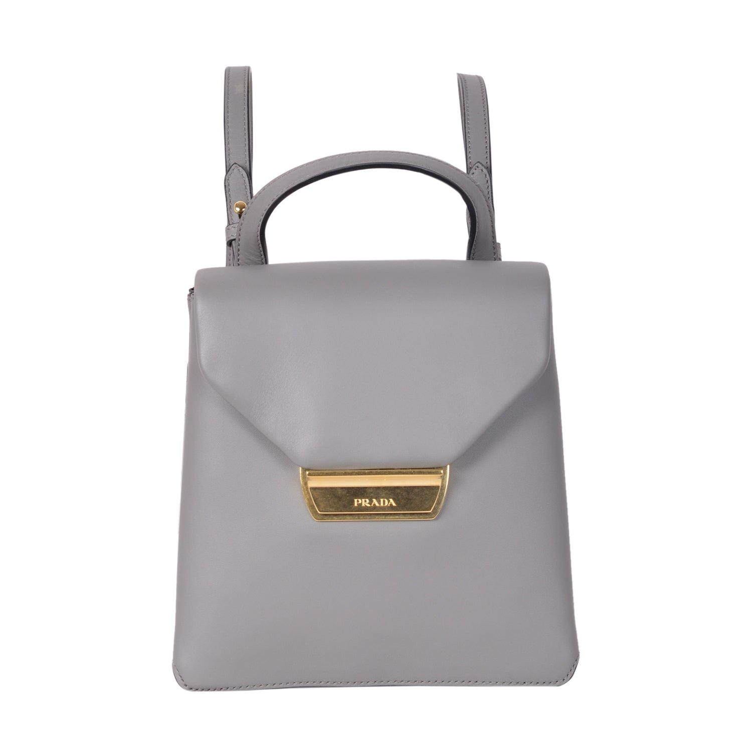 Prada mini backpack in grey saffiano leather  | Shop Luxury Handbag Online