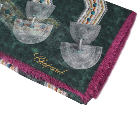 CHOPARD IMPERIAL INCAS DARK GREEN STOLE