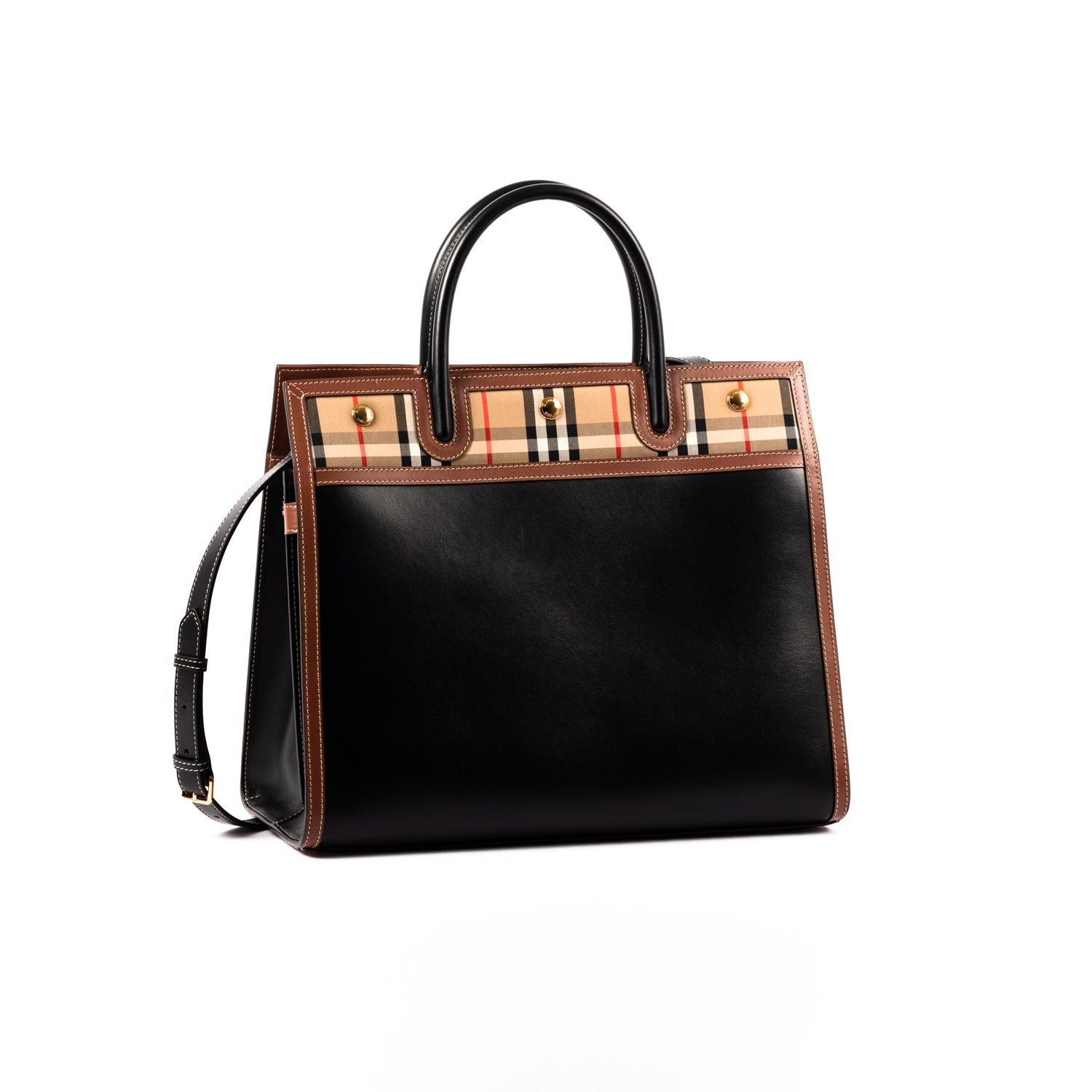 Burberry Vintage Check Medium Title Tote | Shop BURBERRY Online India